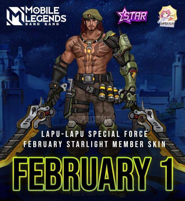 Bocoran Skin Starlight Mobile Legends (ML) Februari 2021