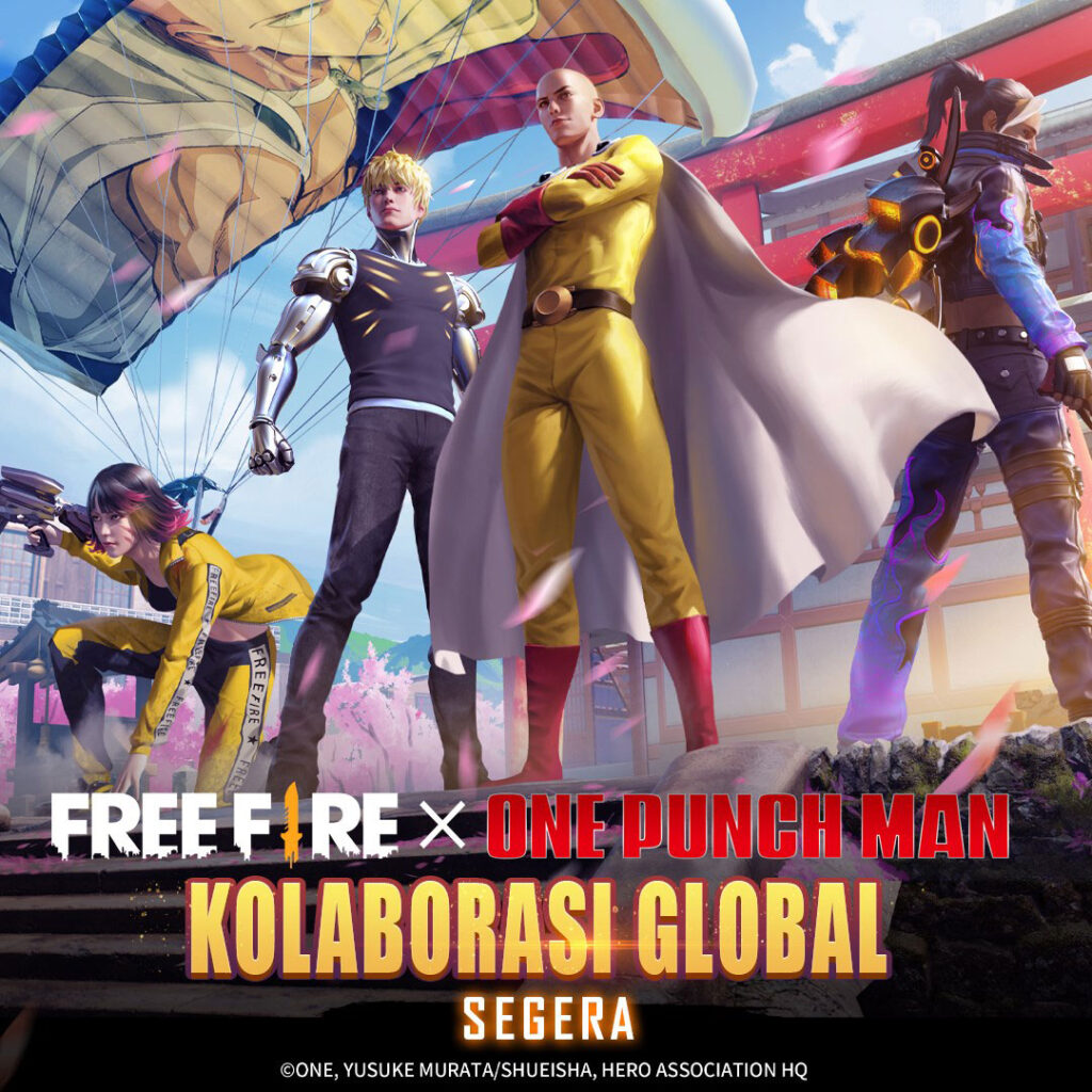 Kolaborasi Free Fire x One Punch Man