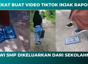 Siswi SMP Injak Rapor Viral TikTok