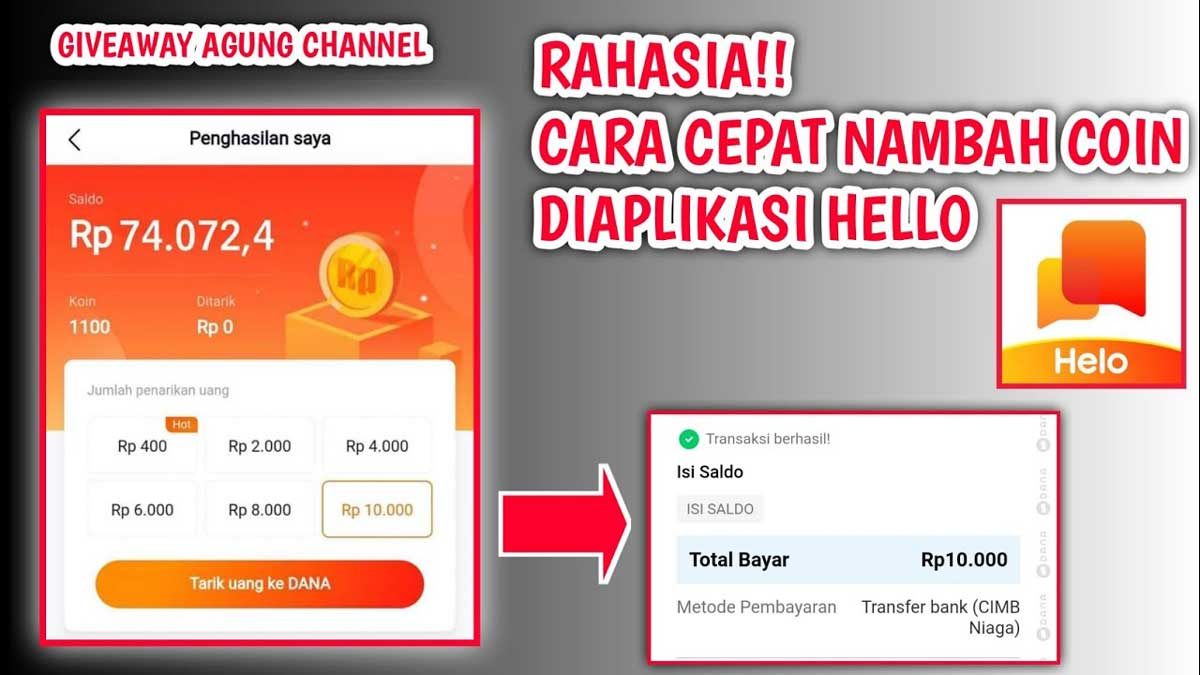 Aplikasi Hello Apk Penghasil Uang