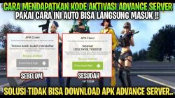 Kode Aktivasi FF Advance Server