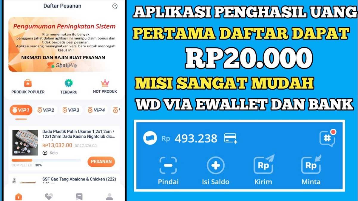 Aplikasi Shallwe Penghasil Uang