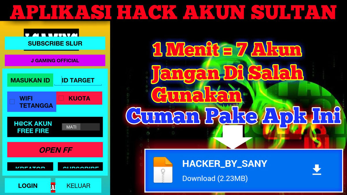 The Hacker FF Apk by V Gaming