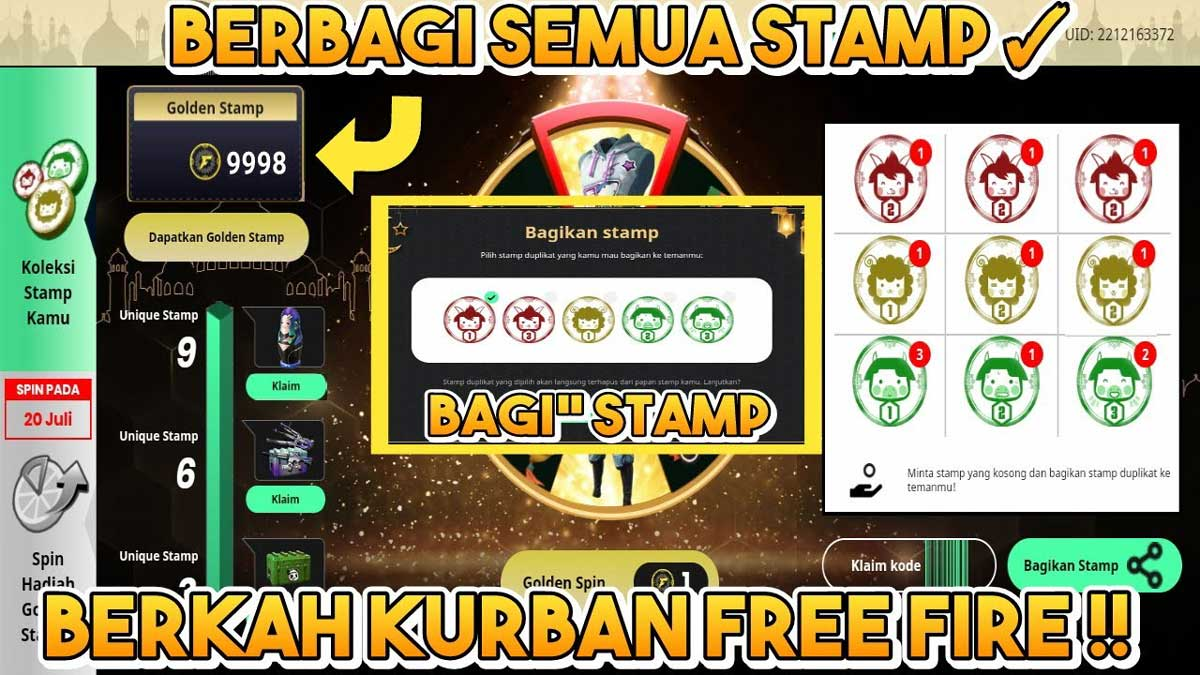 Kode Stamp FF Event Berkah Kurban Free Fire